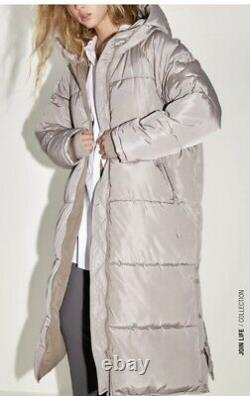 Zara Extra Long Water Repellant Padded Puffer Coat Sand Size M BNWT Ref4391/704