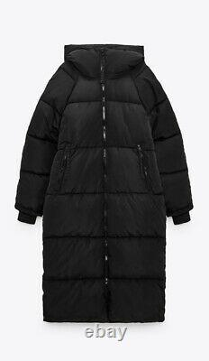 Zara Long Puffer Coat Jacket Water Repellent Size M Sold Out Bloggers Favourite