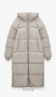 Zara Long Puffer Coat Jacket Water Repellent Size S Sold Out Bloggers Favourite