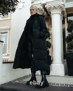 Zara Puffer Long Down Coat Jacket Bnwt Black S 10